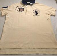Ralph Lauren Polo Shirt Cream White Mens Large
