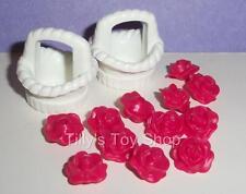 Playmobil blanc osier style petit panier x 2 & fleurs-mariage/palais-neuf
