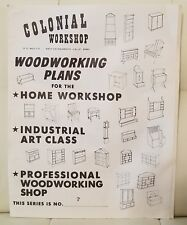 Colonial Workshop Woodworking Plans for Home Workshop Patterns