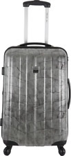 FRANCE BAG Valise cabine rigide – Polycarbonate -  Argent  Crocodile