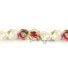 1 Yard 3D Mini Floral Chiffon Shabby Rose Flower Tulle Mesh Lace Trim Doll Dress