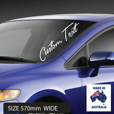 CUSTOM TEXT Personalised Windscreen Lettering Name Vinyl Styling Car Van Sticker