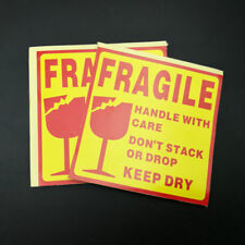 50 fragile sticker handle with care keep dry box sealing labels sticker 10x10CM