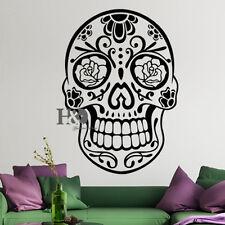 Wall Decal Sugar Skull Decal Vinyl Sticker Room Home Decor Bedroom Art Removable