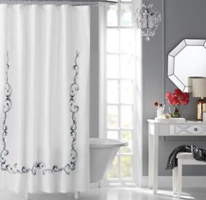 Hotel Style Shower Curtain Vivien Hotel Spa Style 72x84 In 100% Cotton Mach Wash