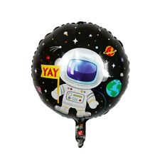 Spaceman Astronaut Happy Birthday 18'' Orb Helium Birthday Party Balloon