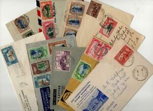 TRINIDAD & TOBAGO: George VI-QEII Collection of Used Covers - Postmarks (42754)