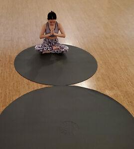 "SISYAMA® TAI-CHI YIN-YANG CIRCLE ROUND YOGA PILATES MAT 5' 60"" Black"