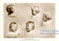 Kinderstudien XL Fotoabbildung von 1925 Kinder lachen weinen Mimik KEIN FOTO -