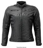 Blouson Moto Femme Tissu Noir Toutes saisons S-Line (avec doublure amovible)