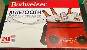 """Budweiser Soft Cooler Bag (13""""x9""""x10"""") with Built in Bluetooth Speakers - Red"""