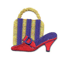 Red Hat Lady Society - Red Hat Purse & Shoe Embroidered Iron On Applique Patch