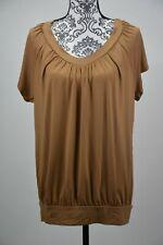 JM Collection Womens Blouson X Large T-Shirt Suede V-Neck