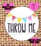 Throw me , wedding confetti stickers , labels , party , carnival TM seals , diy