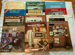Lot of 12 Assorted Stenciling Booklets Set #4