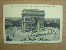 VINTAGE POSTCARD FRANCE PARIS - L'ARC DE TRIOMPHE & TOMB OF UNKNOWN SOLDIER