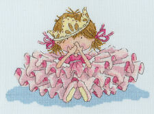 BOTHY THREADS LITTLE JEM ALL FALL DOWN PRINCESS COUNTED CROSS STITCH KIT 24x18cm