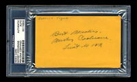 MICKEY COCHRANE SIGNED MINT INDEX CARD PSA/DNA SLABBED AUTOGRAPHED HOF WWII