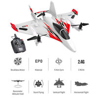 JJRC MO2 2.4G 6CH 3D/6G RC Airplane Outdoor Stunt LED RC Glider Aircraft US D3H8