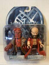 Hellboy Mez-itz Hellboy & Rasputin Figures Mezco Toys 2004 *Sealed*