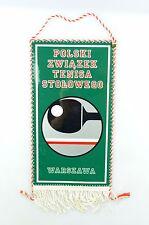 #e6369 Original Old pennant from Poland Polski zwiazek tenisa stolowego Warszawa