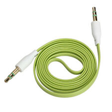 3.5mm Male to Male Stereo Audio Jack AUX Auxiliary Cable for iPod MP3 Green