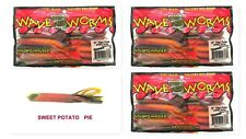 "(3) Unopened Packs Wave Plastics 3"" Tiki-Tube Swirl Series Sweet Potato Pie New"