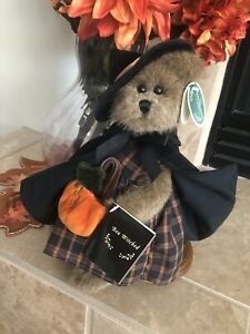 """Bearington Collection BEA WITCHED #1803 2005 10"""" Witch w/Pumpkin Halloween NWT🎃"""