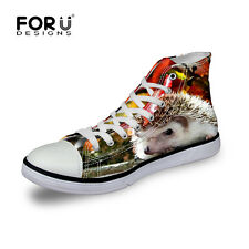 Animals Women Men Sneakers High Top Casual Trainers Shoes Femme Lady Flat Canvas