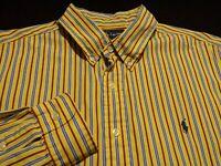 Ralph Lauren Mens XL Classic Fit L/S Button-Down Cotton Multicolor Striped Shirt