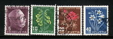 Switzerland--#B179-82 Used--1948 General Ulrich Wille/Flowers