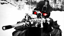 """Sniper in Winter - War -Military- 42"""" x 24"""" LARGE WALL POSTER PRINT NEW"""
