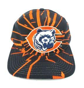VTG 90s~Chicago BEARS~Starter NFL Pro Line Snapback Hat SHOCKWAVE Lightning NWT