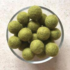 10 wool felt balls ARMY GREEN 20mm round pram garland baby mobile nursery decor