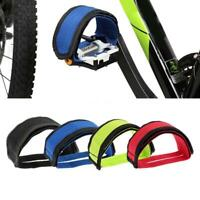 1 PC Cycling Bicycle Fixed Gear Pedal Band Feet Set w/ Strap Beam Foot Bike Belt