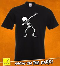 Camiseta Esqueleto DAB Glow Skull miedo Regalo Presente Niños Fancy Dress youtuber Tee