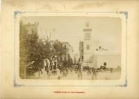 Algérie, Alger, Place du Gouvernement  Vintage albumen print.  Tirage albuminé