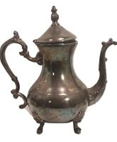 Old Fashioned Silver Plate Teakettle Teapot