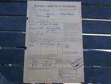 Récépissé Chemin de Fer de l' EST Gare VRIGNE aux Bois Ets CAMION / LAMBERT 1926