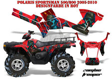 AMR Racing DECORO GRAPHIC KIT ATV POLARIS SPORTSMAN modelli Zombie Trooper B