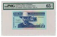 NAMIBIA banknote 10 NAMIBIA DOLLARS 1993. PMG MS-65 EPQ