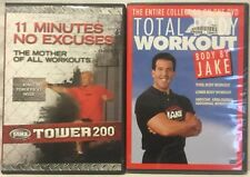 2 DVD lot 11 Minute No Excuse Mother of all workout Tower 200 total body by jake