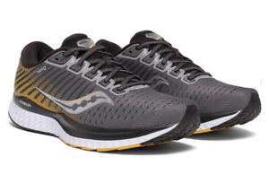 Saucony Men's Guide 13 Running Shoe, Grey/Yellow D (M) New in Box