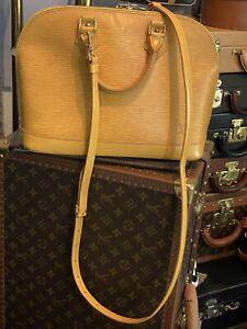 Louis Vuitton Set Tasche Alma gelb mit Gurt Epi Etui und Rechnung