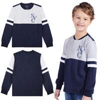 Casual Baseball T-shirt Long Sleeve Cotton Tee Tops Costume Kids Boys Children