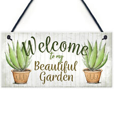 Novelty Beautiful Hanging Garden Plaque Present Home Shed Sign Friendship Gift