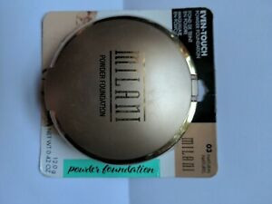 MILANI EVEN TOUCH POWDER FOUNDATION OIL-FREE 03 NATURAL sealed .