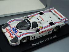 """1/43 Spark PORSCHE 956 #14 """"LIQUI MOLY"""" 9th LE MANS 1986"""