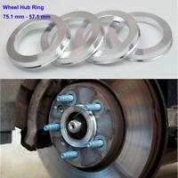 Alloy Wheel Hub Centric ALUMINIUM Spigot Rings 75-56.6 Wheel Spacer Set of 4