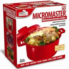 Microwave Pressure Cooker Steamer Vegetable Soup Rice Pasta Cooking Pot Pan